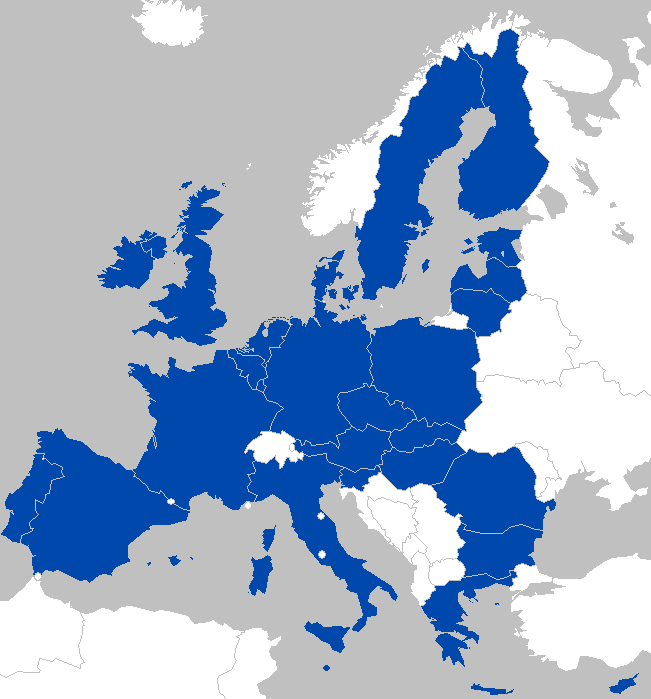 A Map of the EU in 2016