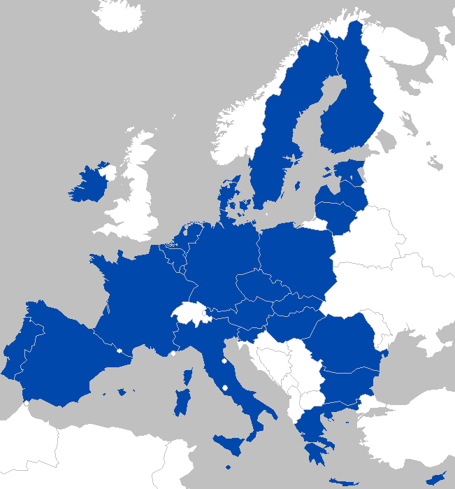 A Map of the EU in 2018