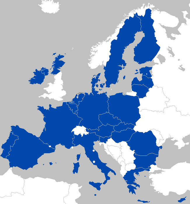 A Map of the EU in 2020